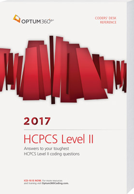 Coders' Desk Reference for HCPCS 2017 Book Cover