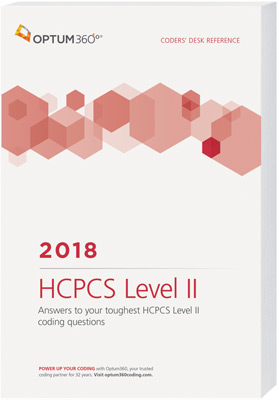 Coders' Desk Reference for HCPCS 2018 Book Cover