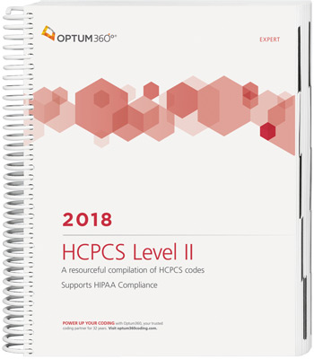 HCPCS Level II 2018 Expert Spiral Book Cover