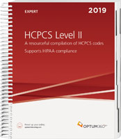 HCPCS Level II 2019 Expert Spiral Book Cover