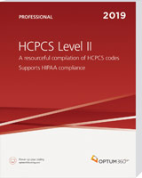 HCPCS Level II 2019 Professional Book Cover